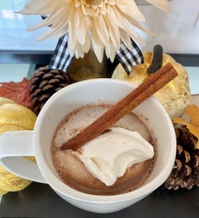 Receta de chocolate caliente de calabaza