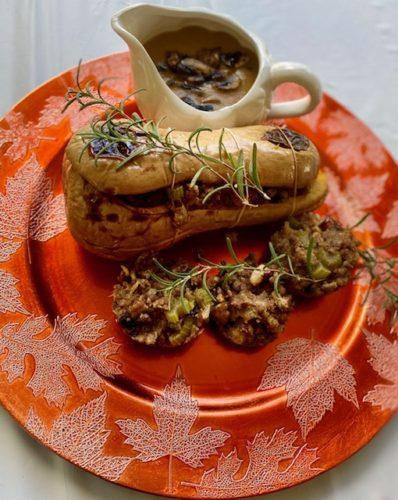 Receta Vegana de Calabaza Moscada Rellena